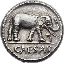 denario elefante césar