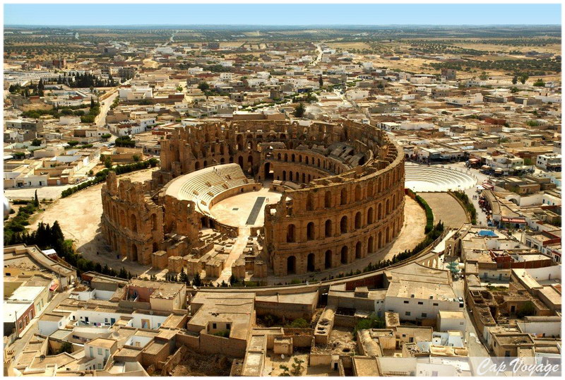 El Jem, Voyage en Tunisie, amphitheatre d'El Djem