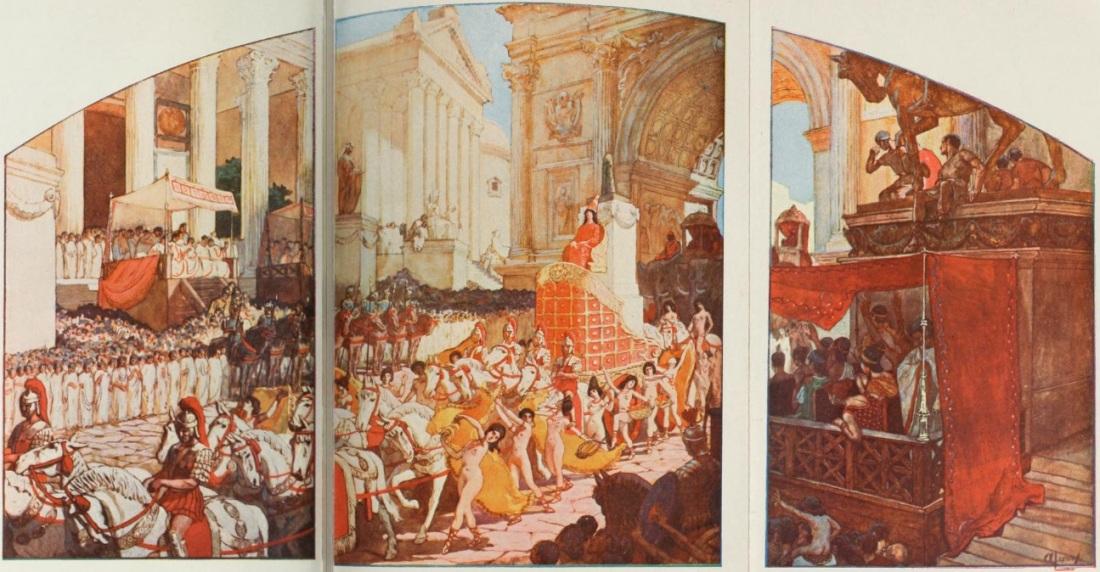 Elagabalus_conduisant_un_char_a_seize_chevaux_blancs,_ou,_sur_un_autel_de_pierreries,_reposait_le_cone_de_pierre_noire