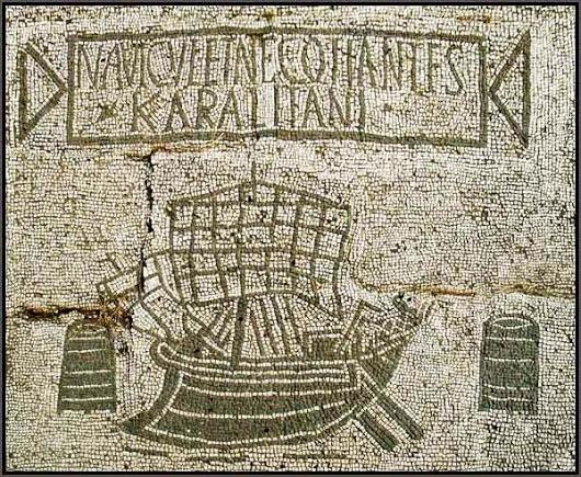 Ostia Antica, Foro delle Corporazioni con pavimento a mosaico