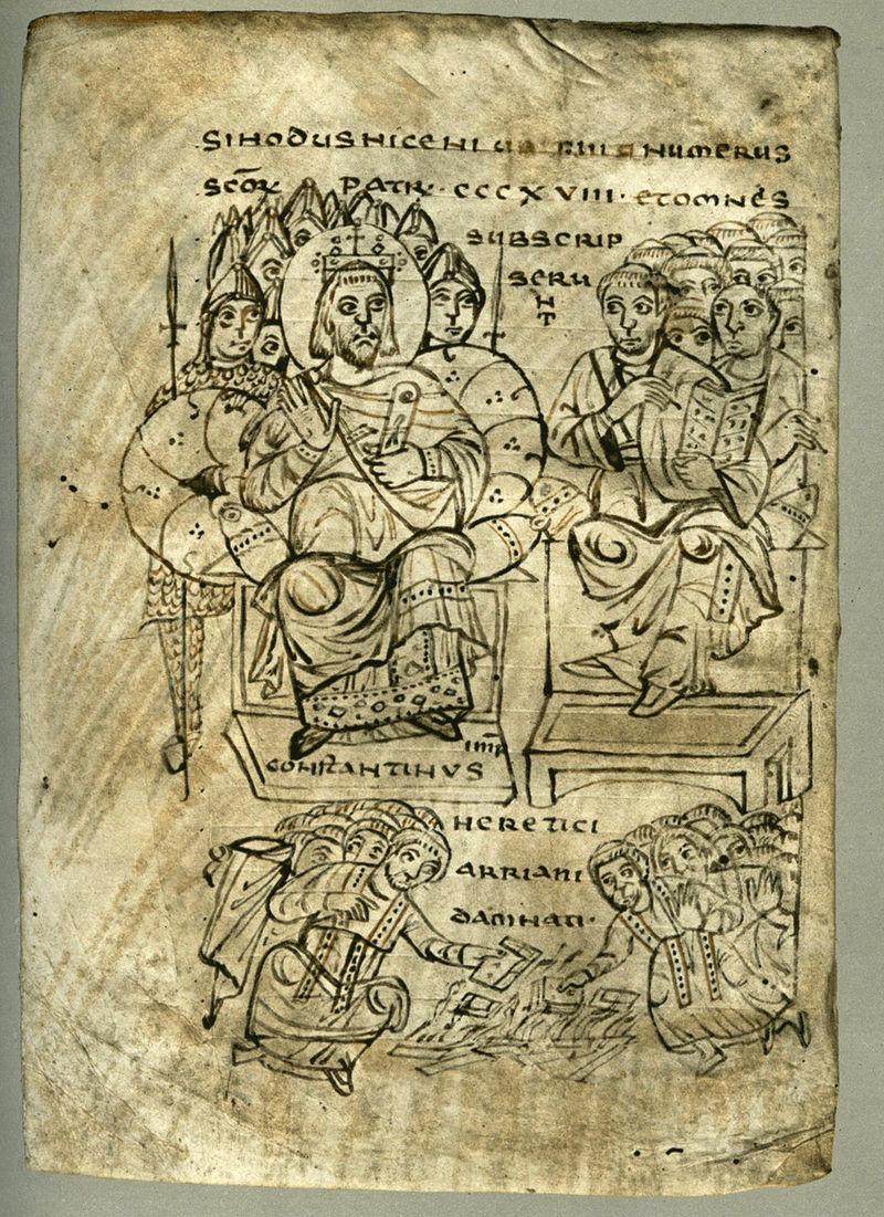 Constantine_burning_Arian_books